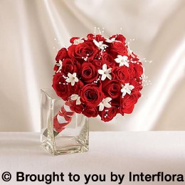 Dazzling Red Rose & Stepanotis Scented Bridesmaid Bouquet