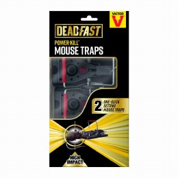 Deadfast Power Kill Mouse Traps (Twin Pack)
