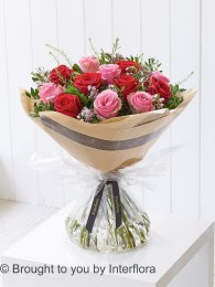 Dramatic Dozen Mixed Roses - Perfect Valentine's Day Gift
