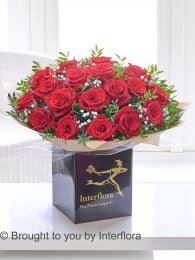 Dramatic Eighteen Red Roses - Perfect Valentine's Day Gift