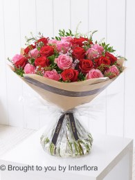 Dramatic Two Dozen Mixed Roses - Perfect Valentine's Day Gift