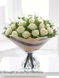Dramatic Two Dozen White Roses - Perfect Valentine's Day Gift