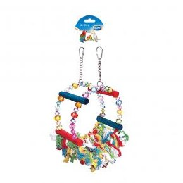Bird Toy Swing with Beads