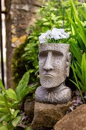 La Hacienda Resin Easter Island Head Planter Large