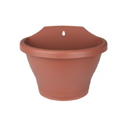 Elho Corsica Wall Basket 25cm Terracotta Colour