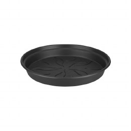 Elho Green Basics Saucer 22cm Living Black Colour