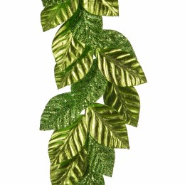 Christmas Garland Metallic Green Leaf 150cm
