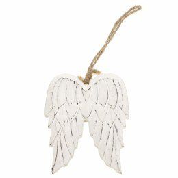 Carved Wood Angel Wings Decoration with Hanger