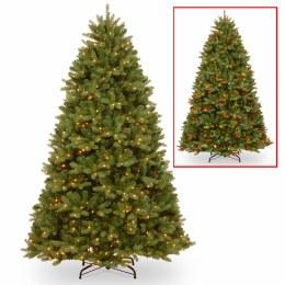 Fairmont Cedar 7.5 Foot Pre-Lit Artificial Christmas Tree With 750 Dual Multi-Colour & Warm White Lights