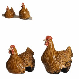 Fence Decoration Light Brown Chickens