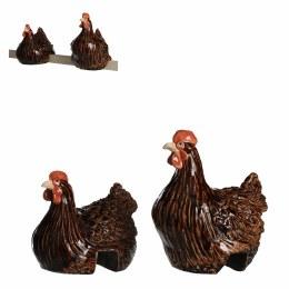 Fence Decoration Dark Brown Chickens
