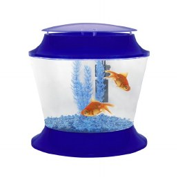Fish R Fun Kids Plastic Bowl Blue With Filter Gravel & Plant 17 Litre