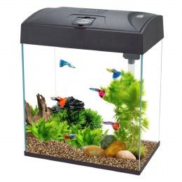 Fish R Fun Rectangular Fish Tank With Pump Filter & Light 28 Litre Black