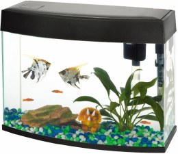 Fish R Fun Panoramic Fish Tank With Pump Filter & Light 20 Litre Black