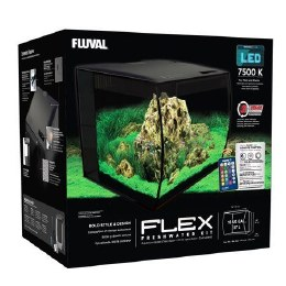 Fluval Flex 57 Litre Aquarium Kit - Black