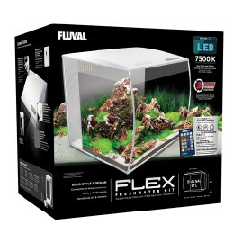 Fluval Flex 57 Litre Aquarium Kit - White