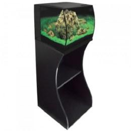 Fluval Flex 57 Litre Black Aquarium With Black Cabinet