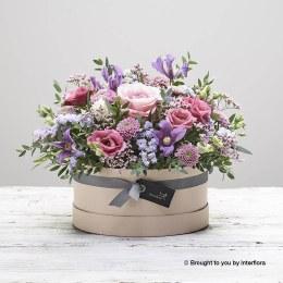 Fuchsia Frills Hatbox