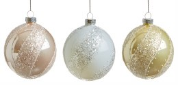 Christmas Bauble with Glitter Detail 8cm