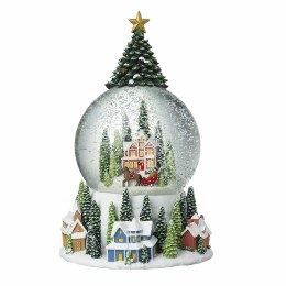 Christmas Snowglobe with Led lights & Tree Top 12x22.5cm