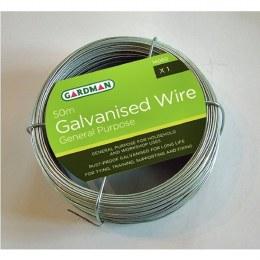 Gardman General Purpose Galvanised Graden Wire 50m