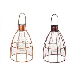 Solar Caged Lightbulb Lantern
