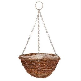 """Gardman Rustic Hanging Basket 30cm 12"""""""