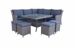 Bespoke Genoa Corner Modular 8 Seater Suite With Cushions - Summer Sale