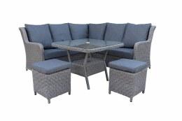 Bespoke Genoa Corner Modular 6 Seater Suite With Cushions - Summer Sale