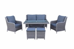 Bespoke Genoa Lounger 6 Seater Set With Cushions - Summer Sale
