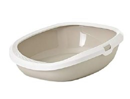 Savic Gizmo Cat Litter Tray with Rim Medium Mocha