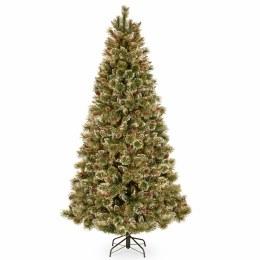 Glittery Bristle 7.5 Foot Artificial Christmas Tree
