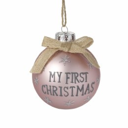 Baby's First Christmas Bauble ' My First Christmas' Pink 8cm