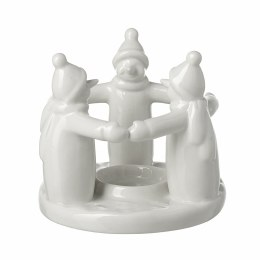 Christmas Candle Holder Snowmen 11x11x10.7cm