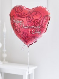 Add a 'Happy Valentine's Day' Balloon