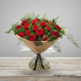 Heavenly Red Rose Hand-tied Large