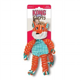 Kong Floppy Knots Fox Dog Toy Orange Small-Medium