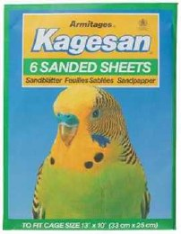 Kagesan Bird Cage Green Sanded Sheets 33x25cm