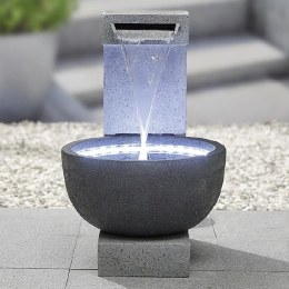 Solitary Pour Water Feature with LED Lights