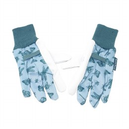 Kent & Stowe Jersey Cotton Grip Gardening Gloves – Blue/White – Medium