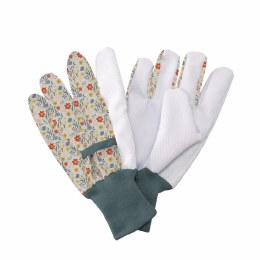 Kent & Stowe Jersey Cotton Gloves with Flowers Medium