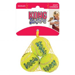 Kong Squeaky Tennis Balls 3 pack Extra Small