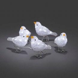 Konstsmide Acrylic Birds Set of 5  16cm