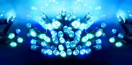 50 Multi Action Blue LED Battery Operated Christmas Lights with Timer