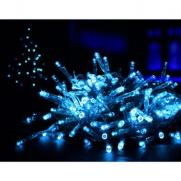 100 Multi Action Blue LED Battery Operated Christmas Lights with Timer 10 meter