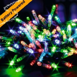100 Multi Action Multi Coloured LED Battery Operated Christmas Lights with Timer 10 meter