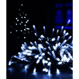 100 Multi Action Cool White LED Battery Operated Christmas Lights with Timer 10 meter
