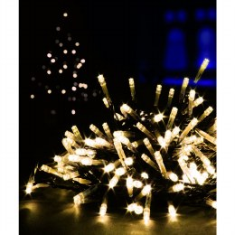100 Multi Action Warm White LED Battery Operated Christmas Lights with Timer 10 meter