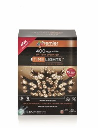 400 Premier Multi Action Warm White LED Lights with Timer 40m Battery Operated