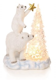 Premier Christmas Polar Bear LED Tree Scene